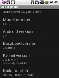 Safaricom stock Huawei IDEOS ROM details