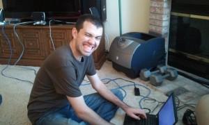 Alan hacking on his T420