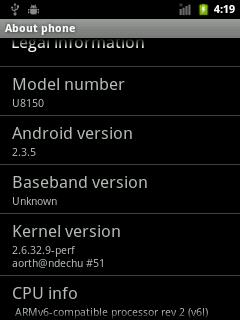 Custom kernel on CM7 IDEOS (me == aorth)