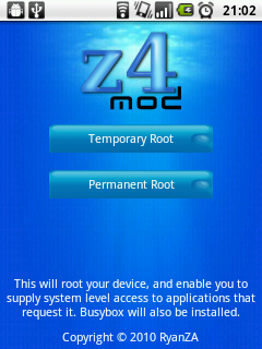 z4root on an unrooted U8150