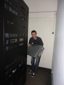 Removing detritus from the ILRI server room