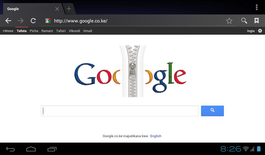 Google zipper doodle