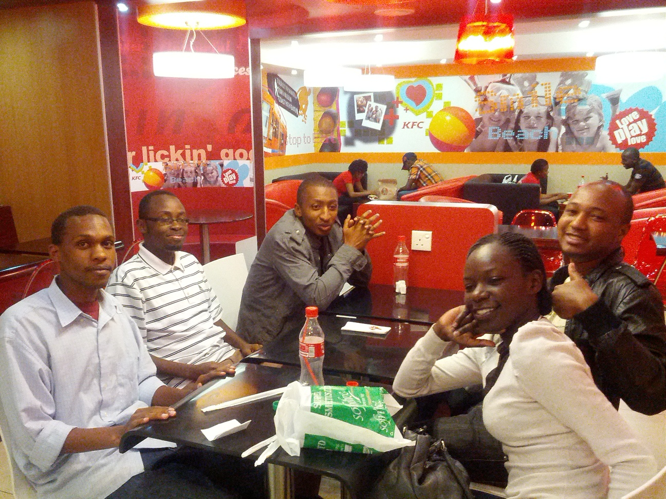 Ibrahim, Dennis, Sammy, Njema, and Perpetuah