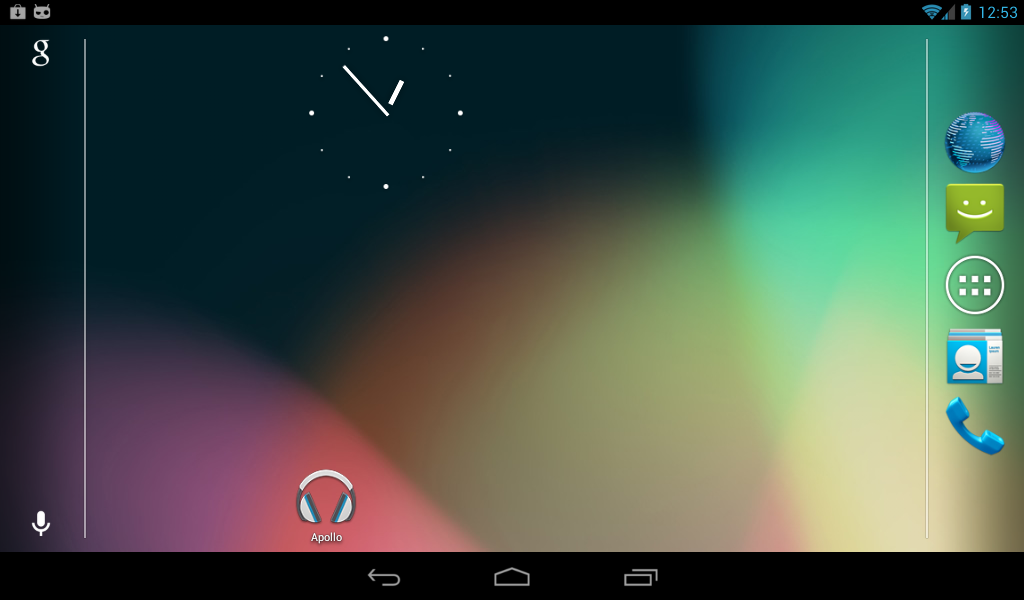 "Default homescreen in ""Phablet"" UI"