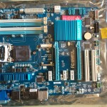Bare Gigabyte Z77-D3H motherboard