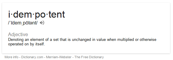 Definition of idempotent