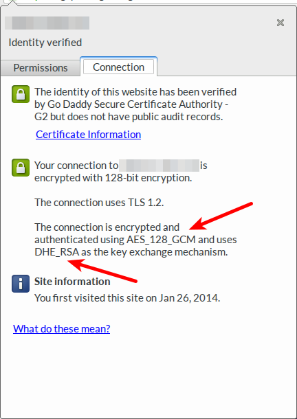 Connection security in Chrome