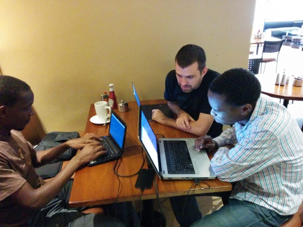 Hacking on the Eudyptula Challenge at Kaldis in Nairobi, Kenya